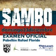EXAMEN - LUCHA SAMBO, DOMINGO 23 DE DICIEMBRE